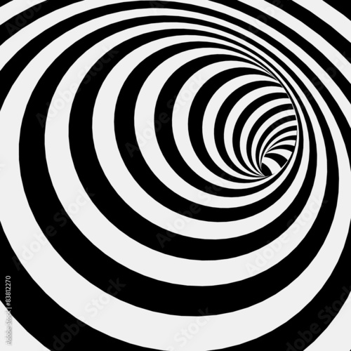 Fototapeta na wymiar Spiral Striped Abstract Tunnel Background