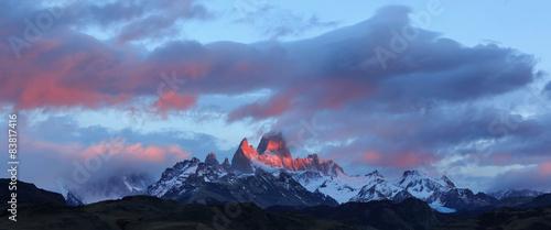 Foto op Canvas Bergen Mount Fitz Roy, Los Glaciares National Park, Patagonia