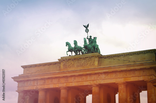 Brandenburg Gate. tillt-shift Poster
