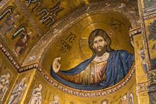 Christ Fresco Inside Monreale ...
