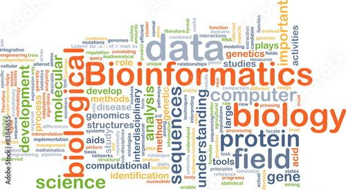Bioinformatics background concept Wallpaper Mural