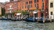 VENICE. Grand channel (Canal Grande), old houses and gondolas.
