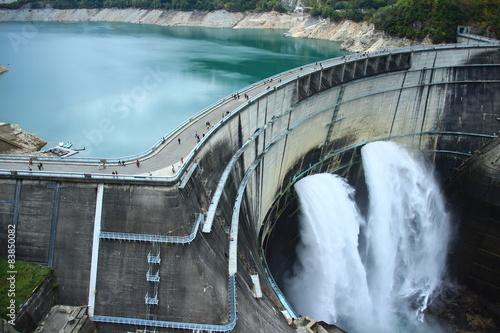 Deurstickers Dam 黒部ダム