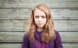 canvas print picture - Beautiful blond Caucasian girl teenager portrait