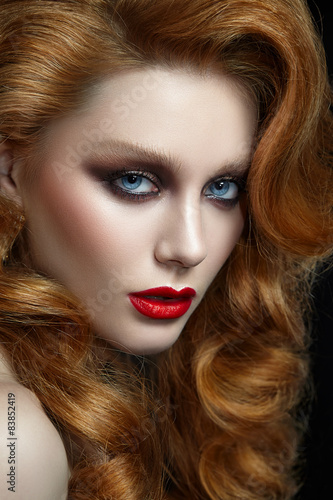 Fotografie, Obraz  Portrait of a woman with red hair