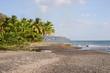 Einsamer Strand in Dominica
