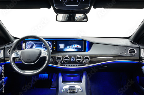car interior dashboard black with blue ambient light buy this stock photo and explore similar. Black Bedroom Furniture Sets. Home Design Ideas