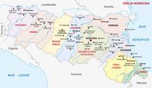 Emilia-romagna Administrative Map