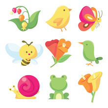 Cute Spring Icons