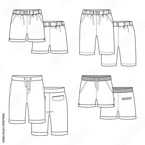 White shorts. Canvas-taulu