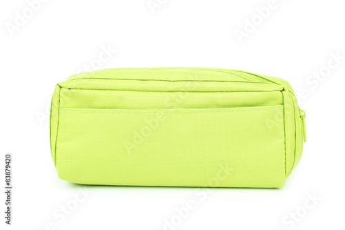 Fotomural A pencil case isolated on white