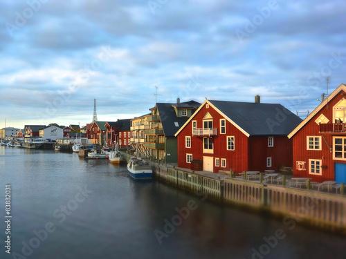 Door stickers Pole Panorama norvegese - Lofoten