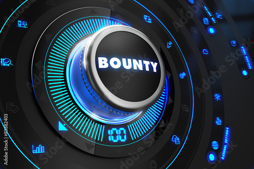 Bounty Controller on Black Control Console. Canvas Print