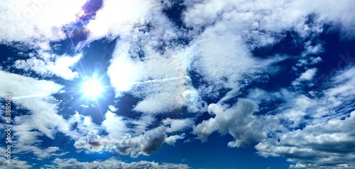 A very nice Blue sky with some clouds! Wallpaper Mural
