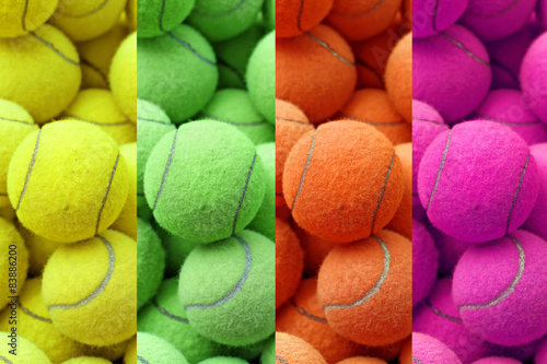 exotic color tennis ball Canvas