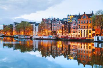 Noćni pogled na Amsterdam, Nizozemska