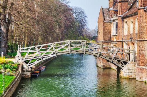 Tableau sur Toile Mathematical bridge at the Queens College in Cambridge