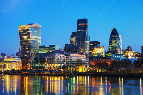 Photo  Financial district of the City of London