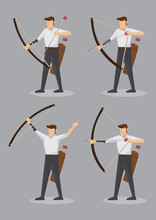 Archers With Bow And Arrows Ve...
