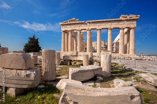 Fotobehang Athene Parthenon temple on the Acropolis in Athens, Greece