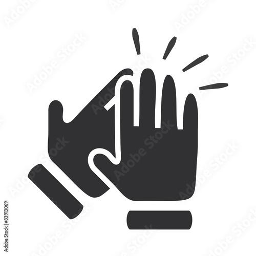 Fotografía  Hands clapping symbol. Vector icons