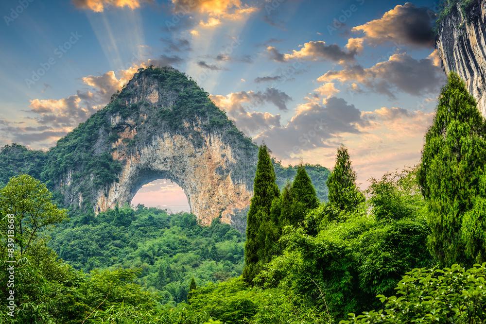 Fototapety, obrazy: Moon Hill, Yangshuo, China.