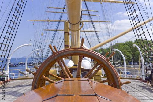 Foto auf AluDibond Schiff Heckruderstand