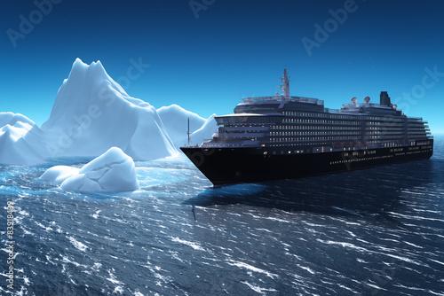 Photo Cruise ship and iceberg