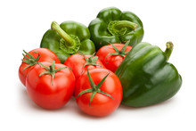 Green Bell Pepper And Tomato