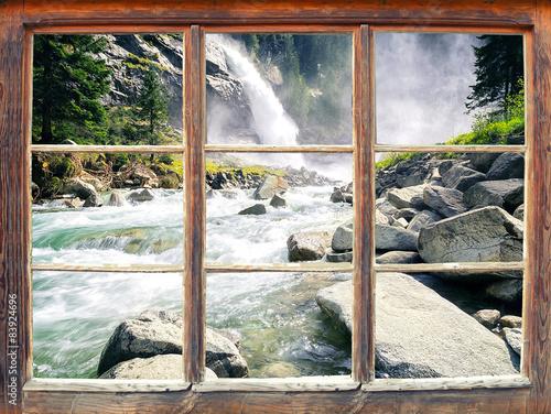 Fensterblick - Wasserfall