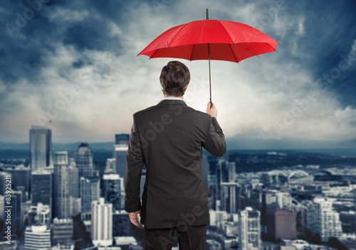 Fotografia  Insurance, Umbrella, Insurance Agent.