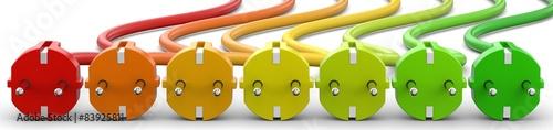 Photo  Energieeffizienz Stromstecker ohne Buchstaben