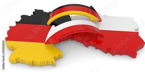 Fotografie, Obraz  Kooperation zwischen Polen und Deutschland