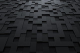 Abstract 3d rendering of futuristic surface with squares.