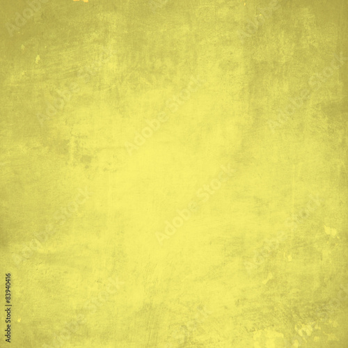 Fototapeta Yellow grunge wall for texture background obraz na płótnie