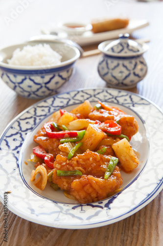 Sweet and Sour Chicken Canvas Print