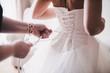 canvas print picture - Bride in white dress
