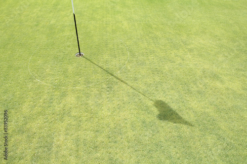 Fotografia, Obraz  Turf core aeration on green golf.