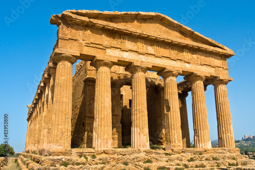 Old greek temple at Segesta, Sicily, Italy Canvas-taulu
