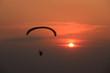 Paramotor and sunset