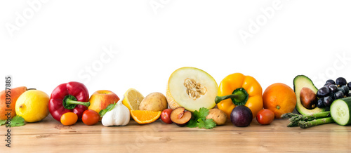 Spoed Foto op Canvas Verse groenten Fruits and vegetables