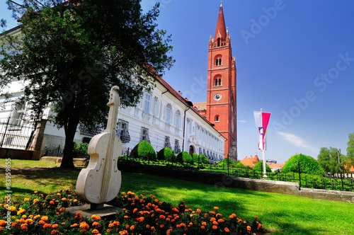 Keuken foto achterwand Monument Old brick cathedral in Croatian town Djakovo