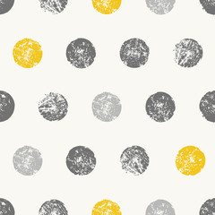 Obraz na Szkle Skandynawski Abstract Round Shapes Seamless Pattern