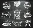 Chalkboard Typographic Summer Designs