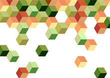 Green Cube Retro Pattern Background