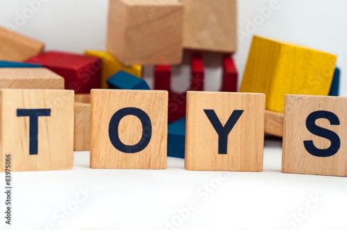 wooden blocks - fototapety na wymiar