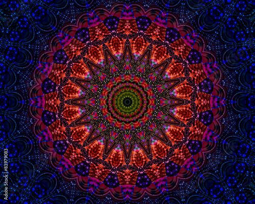 Mandala good vibes and energy Canvas Print