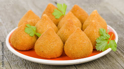 Fotografie, Tablou  Coxinha de Galinha - Brazilian deep fried chicken snack
