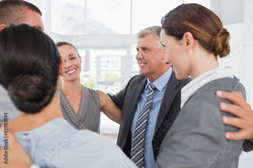 Fototapety, obrazy: Business team standing in circle