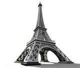 Fototapeta Fototapety z wieżą Eiffla - Eiffel tower isolated on a white background.